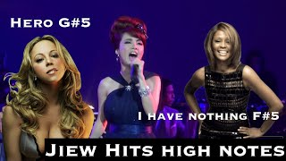 「High notes」Jiew Piyanut - จิ๋ว ปิยนุช - hits Whitney Houston & Mariah Carey's high notes 「B4-G#5」