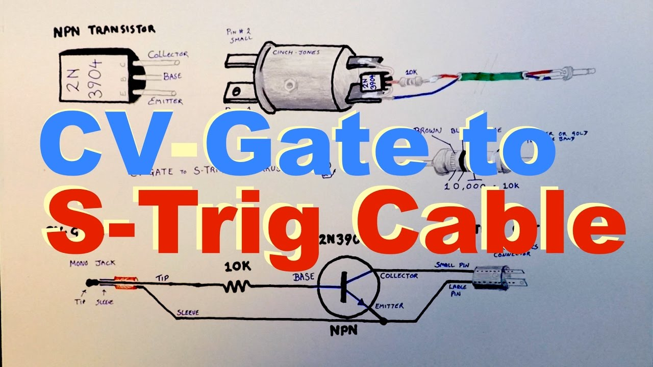 how to make a cv-gate to s-trigger cable