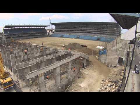 Trabajos de remodelación del estadio Capwell, de Emelec.