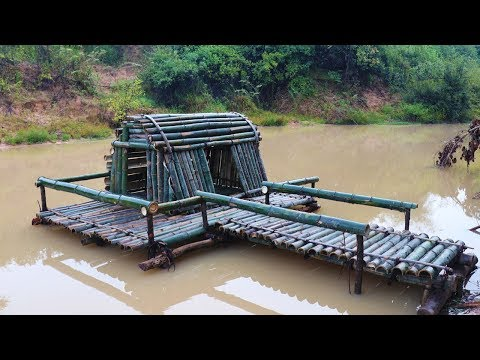 Build Bamboo house Around Water