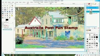 Fun postage stamp
