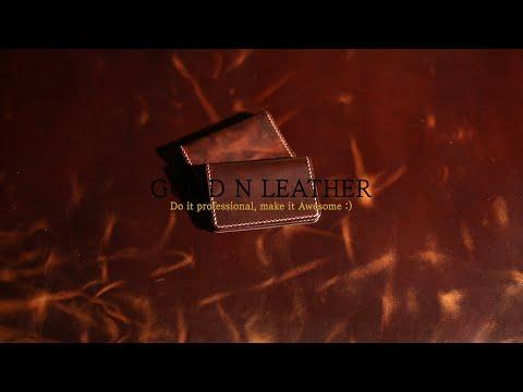 [LeatherCraftASMR] Making a Simple leather wallet. (가죽공예 카드지갑 만들기) Leathercraft PDF Pattern.