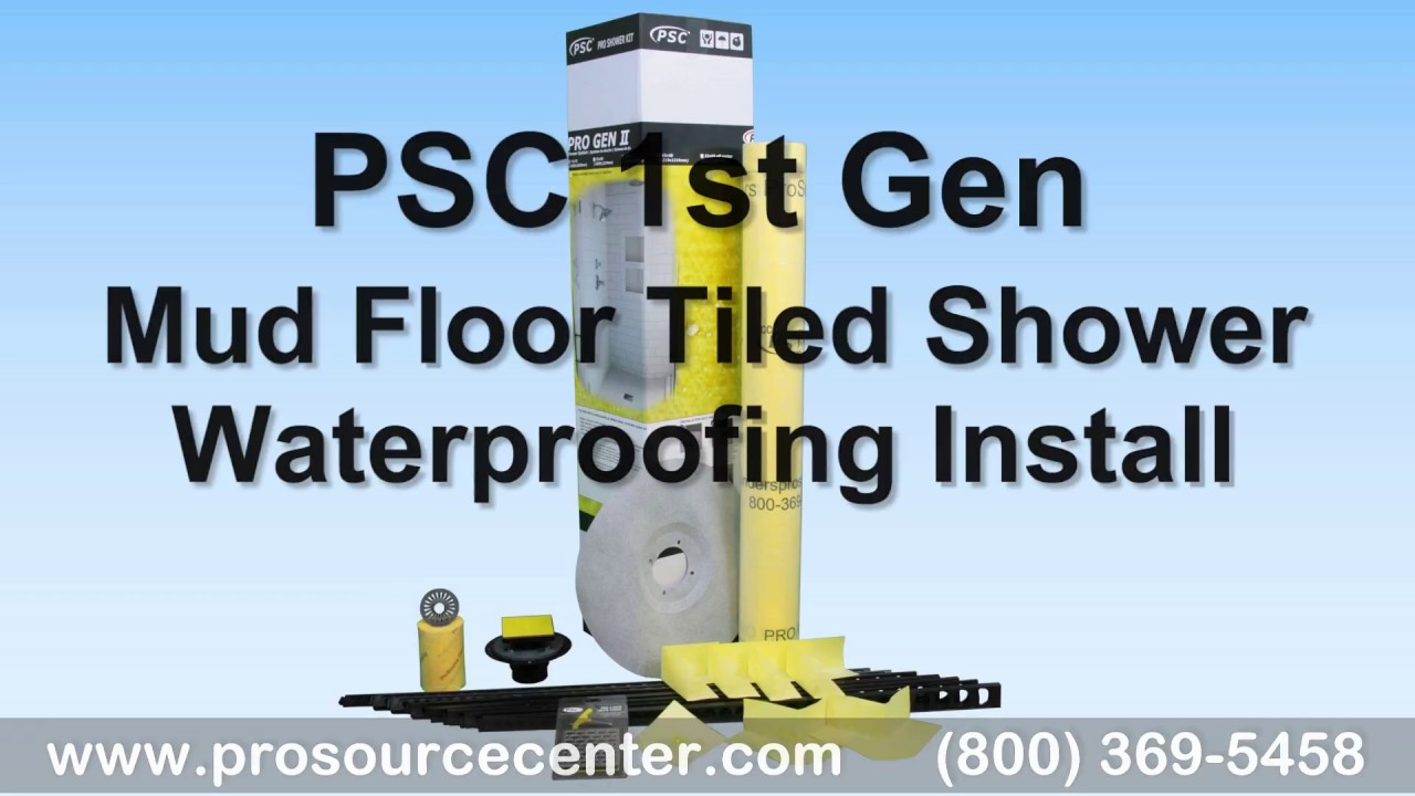 PSC GEN One Mud Floor Shower Waterproofing Kit - Install Like ...