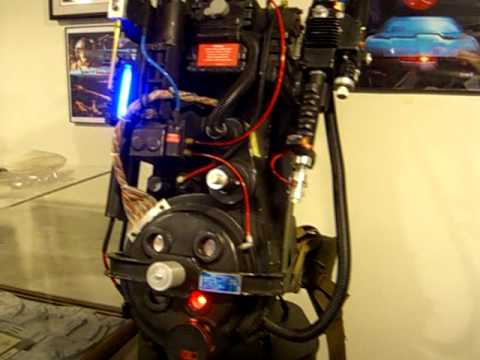 Ghostbusters Proton Pack Lights And Sound Youtube