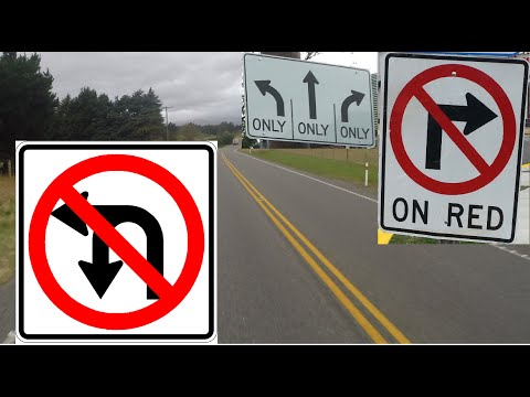 Америка: дорожная разметка и знаки