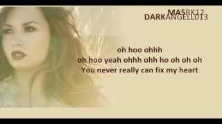 Repeat youtube video Demi Lovato  Fix A Heart - Lyrics on Screen HQ UnPitched)