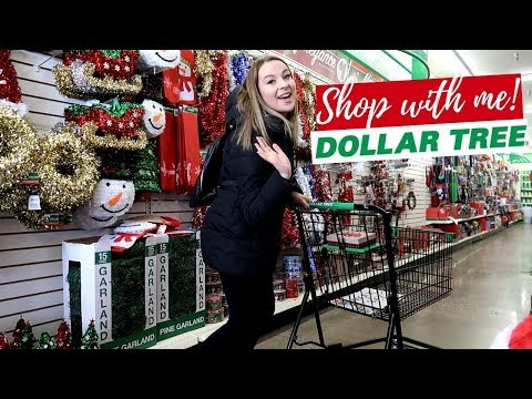 DOLLAR TREE SHOP WITH ME AND HAUL- CHRISTMAS 2018