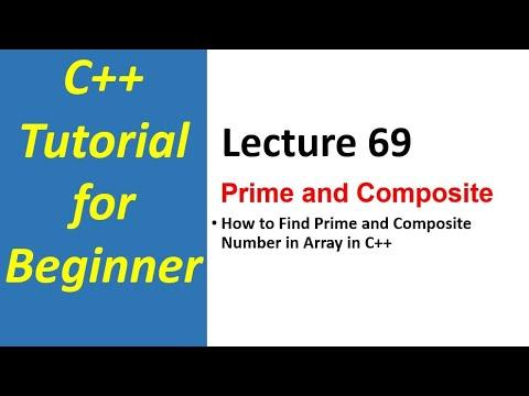Fundamental Programming  -69-  finding prime & Composite numbers in array c++(Urdu/Hindi)