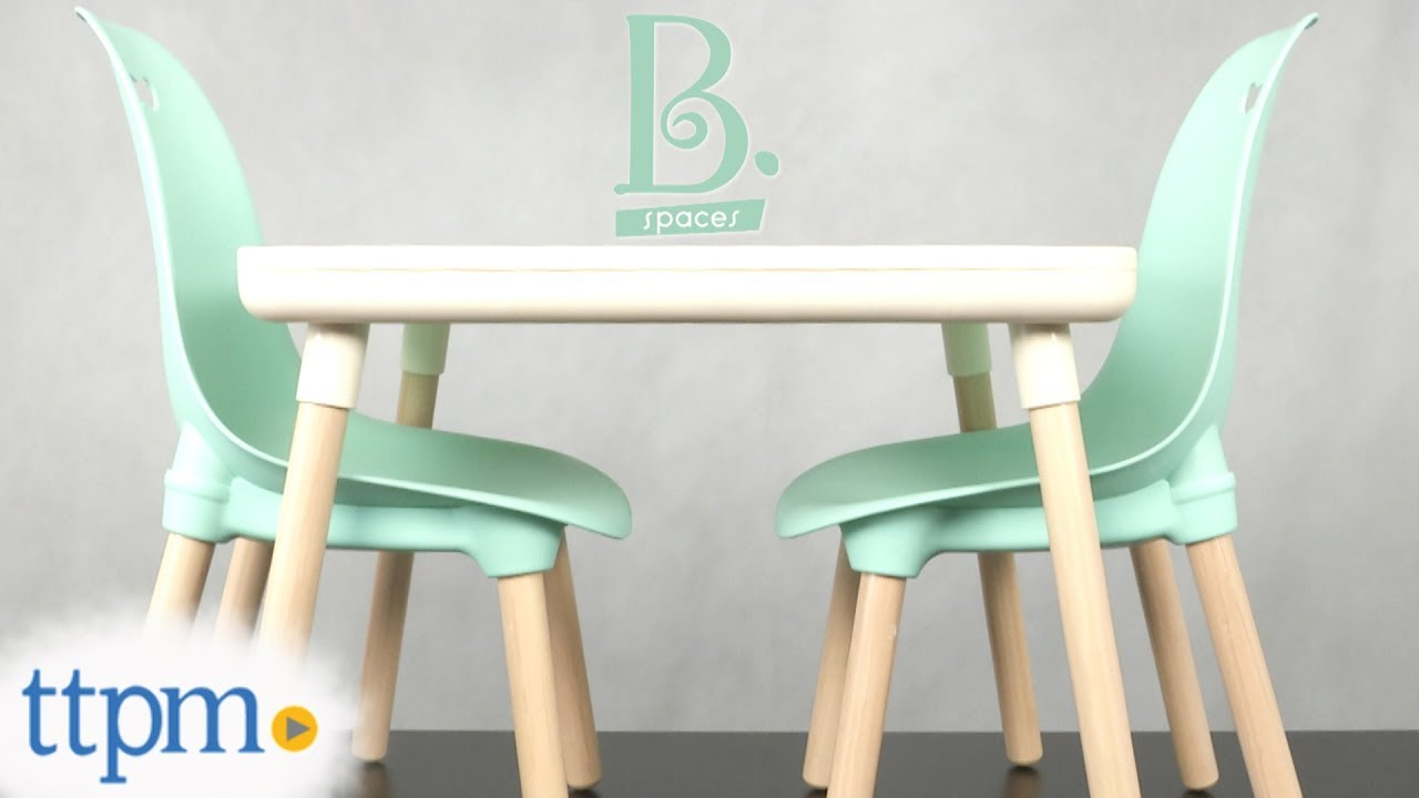 Modern Table And Chairs Kid Century Modern Table Chair Set From Battat