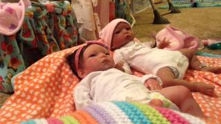 My Full Body Silicone Twin Babies' First Night Routine Together