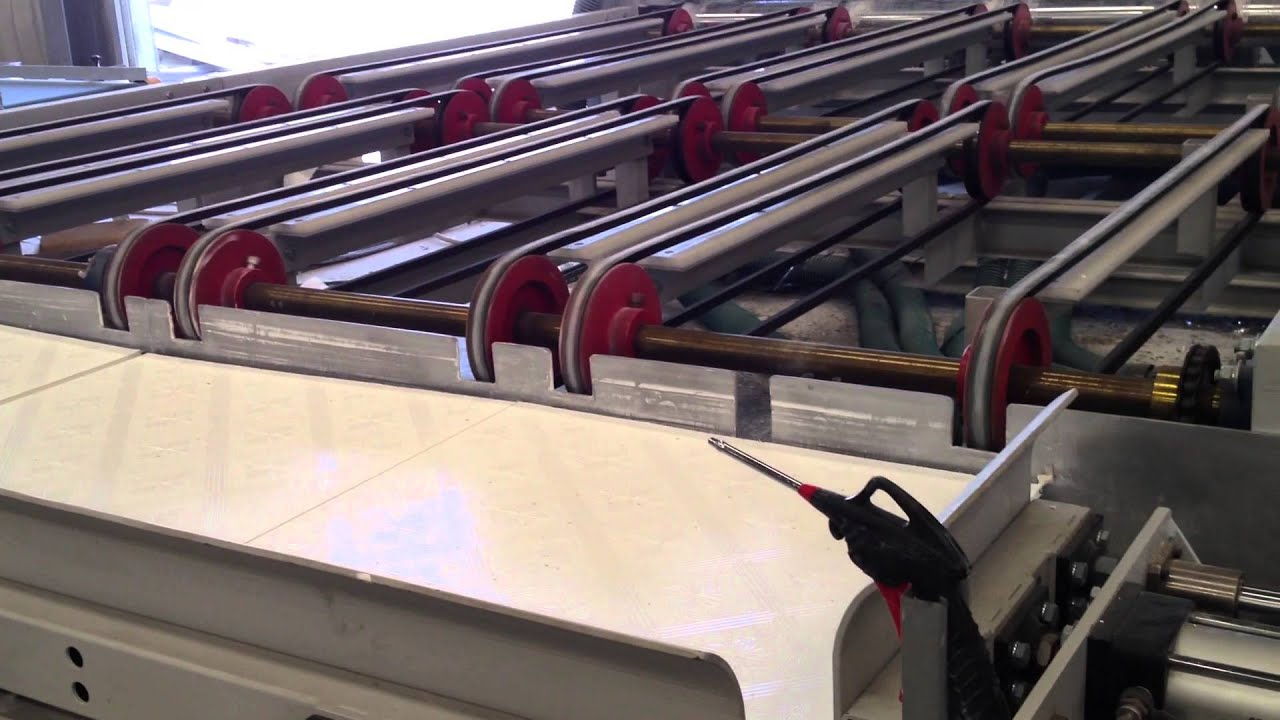 Gypsum ceiling tile laminating line with packaging system youtube dailygadgetfo Images
