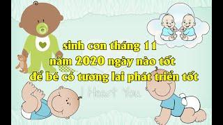 sinh con tháng 11 năm 2020 ngày nào tốt - PX P