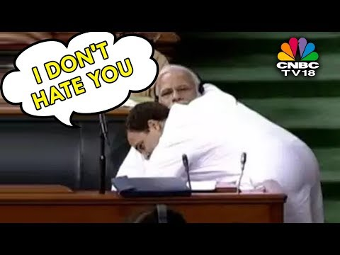 Rahul Gandhi: I May Be PAPPU For You, But I Don't Hate You'; Hugs PM Modi After His Speech