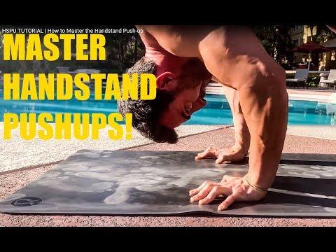 Handstand Push-up Progression- pushups tutorial
