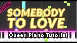 Somebody To Love By Queen - Easy Piano Tutorial