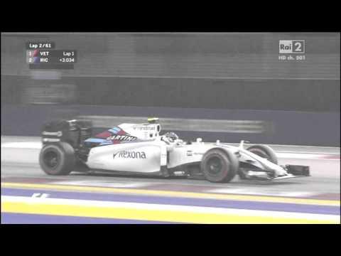F1 Partenza e primi 3 giri Singapore 2015