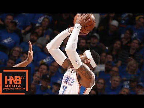 Oklahoma City Thunder vs Utah Jazz 1st Half Highlights / Game 1 / 2018 NBA Playoffs