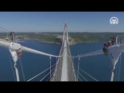 İstanbul Boğazına inşa edilen Yavuz Sultan Selim Köprüsü hizmete açılıyor