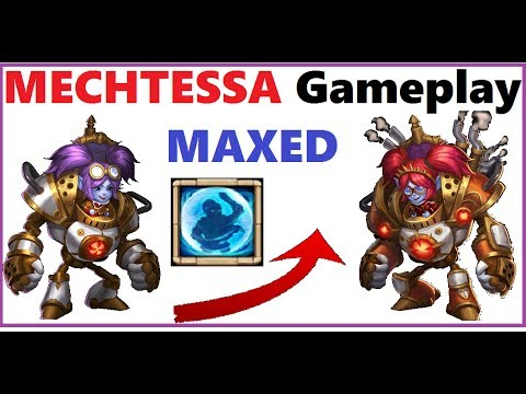 Maxed MECHTESSA Gameplay Castle Clash