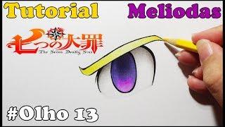 Como Desenhar Olho do Meliodas Nanatsu no Taizai - How to Draw Eye Meliodas