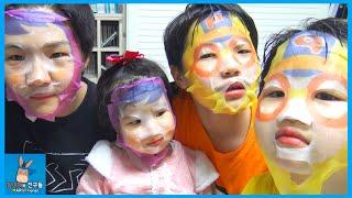 뽀로로 인간 되다! 너는 누구냐? 외계인? ♡ 뽀로로 마스크 팩 얼굴 변신 댓글 챌린지 Pororo Mask Pack Challenge | 말이야와친구들 MariAndFriends