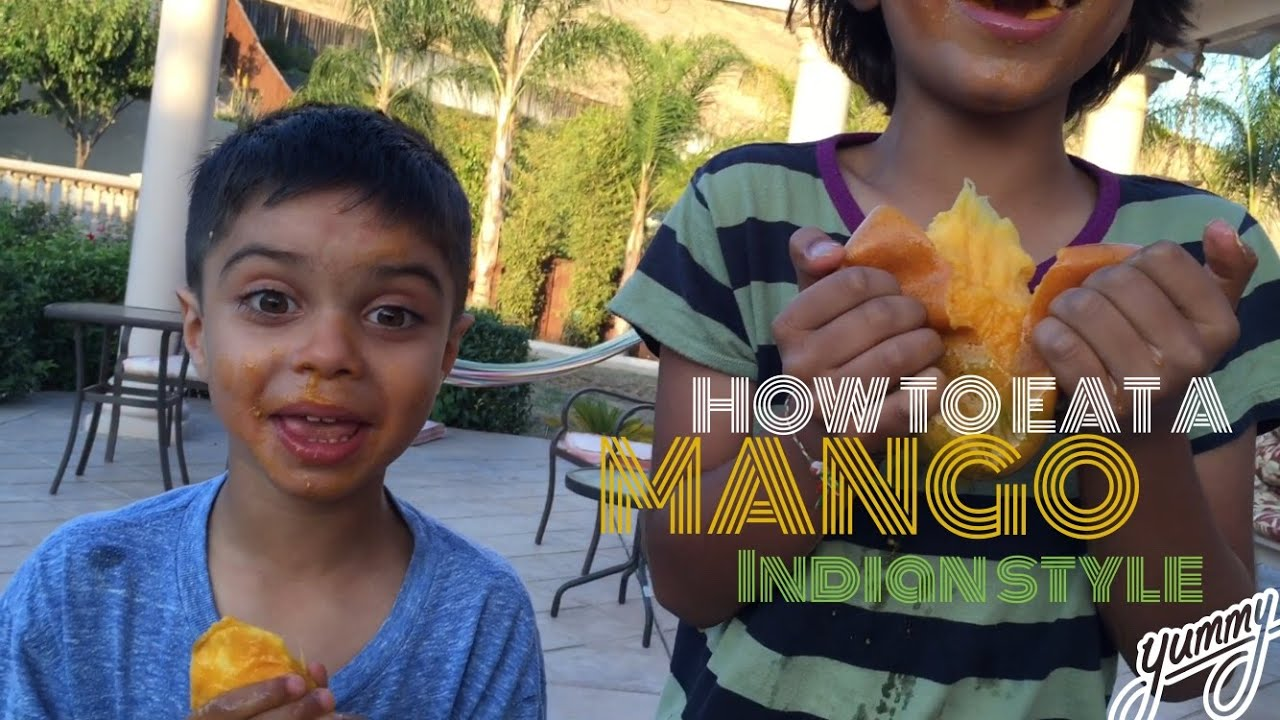 How To Eat A Mango, Indian Style!