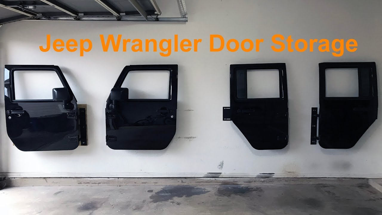 Jeep Wrangler Barricade Door Storage Hangers Youtube
