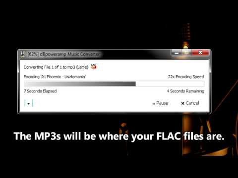 Convert FLAC to MP3 (very fast and easy) For iTunes, Zune & any MP3 Player