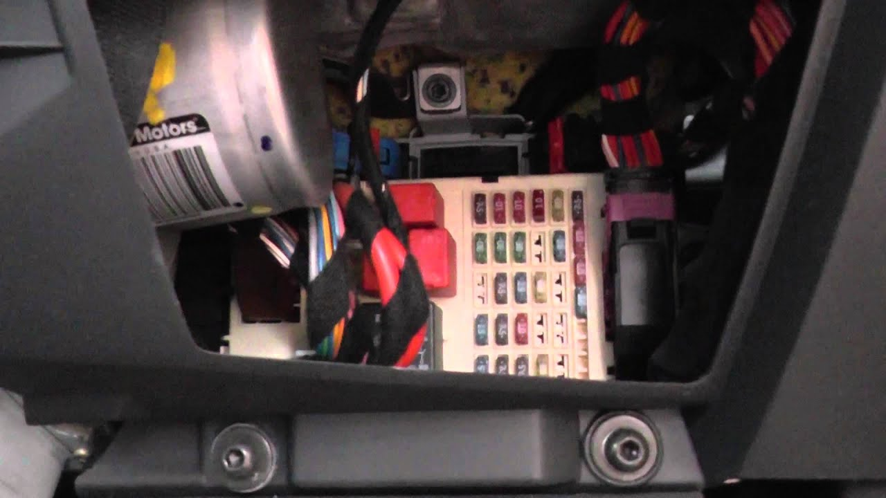 Fiat Stilo Fuse Box Location  YouTube