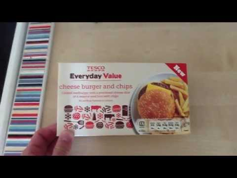 Tesco everyday value cheeseburger & chips review