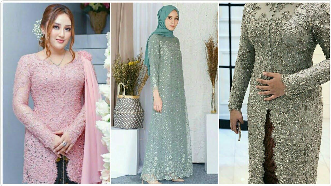 Model Kebaya Brokat Modern dan Gamis Terbaru Pesta Pernikahan Pertunangan  Populer Tahun 11/11
