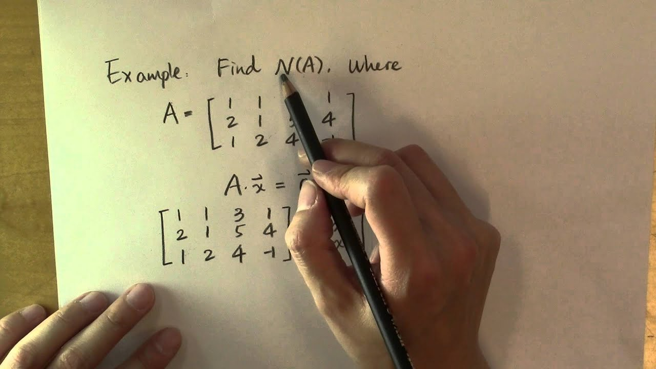 How To Find The Null Space And The Nullity Of A Matrix: Example