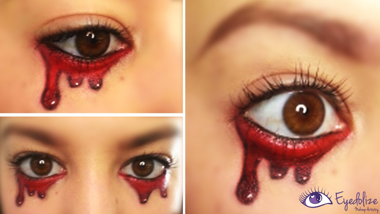 EASY Crying Blood Halloween Makeup Tutorial by EyedolizeMakeup ...