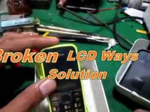 Nokia 110 Broken LCD Ways Solution
