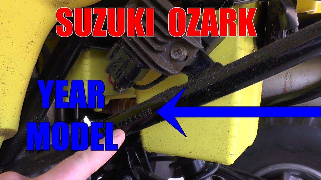 HOW TO FIND SUZUKI OZARK YEAR MODEL - YouTube