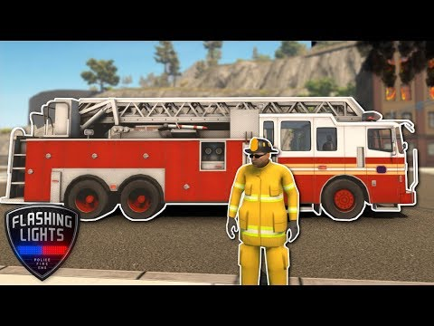 FIREFIGHTER Fire Rescue! - Flashing Lights Gameplay - Emergency Services Simulator Game!