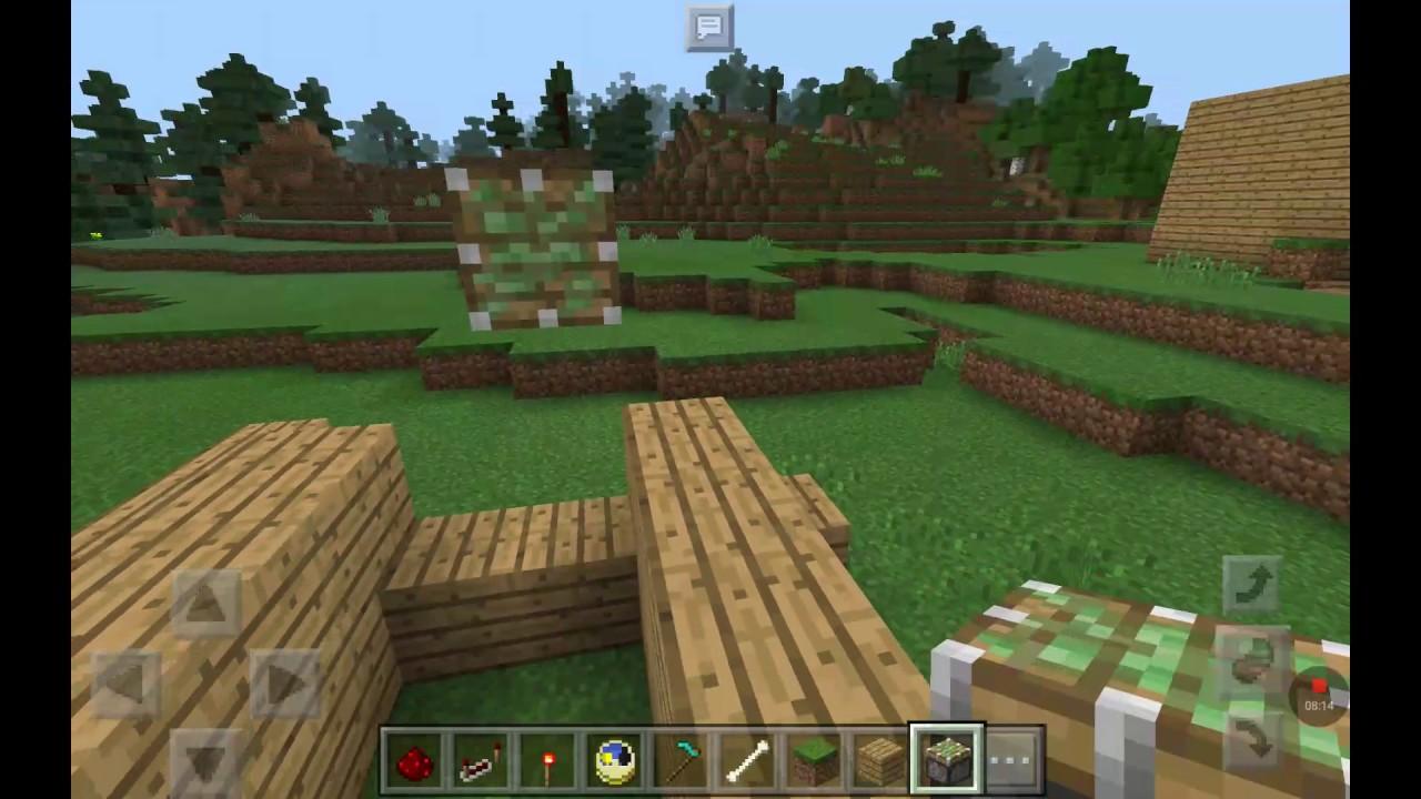 Tuto minecraft porte secr te laboure la terre pour ouvrir for Porte and minecraft