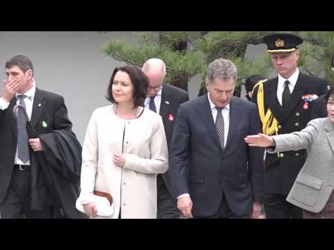 President of Finland visits Kyoto