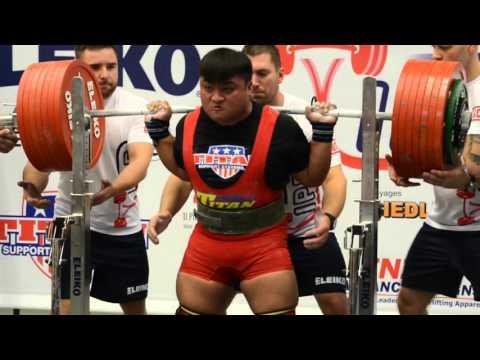 WC Powerlifting - Sen Yang - 400kg squat