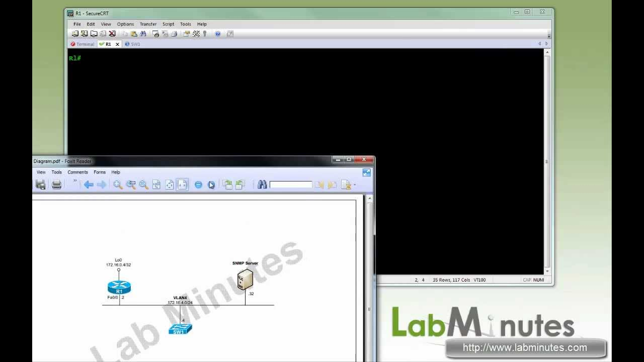 Labminutes Rs0007 Cisco Router And Switch Snmp Configuration Wiring Diagram