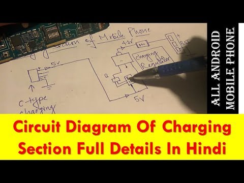 CIRCUIT DIAGRAM OF CHARGING SECTION IN ANDROID MOBILE PHONE MOBILE