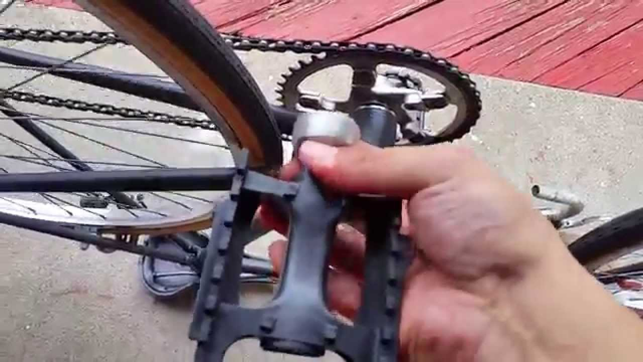 How To Change Pedals On A Trek Road Bike Youtube