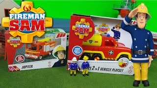 New 2016 Feuerwehrmann Fireman Sam Double Unboxing Jupiter Fire Engine & Venus 2 in1 Fire Truck