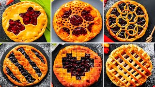 CREATIVE PIE CRUST DESIGNS || Funny Dessert Ideas by 5-Minute Recipes