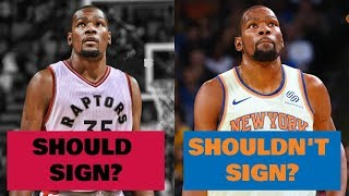 5 Teams Kevin Durant Should DEFINITELY Sign With in 2019... and 5 Teams He MUST Stay Away From!