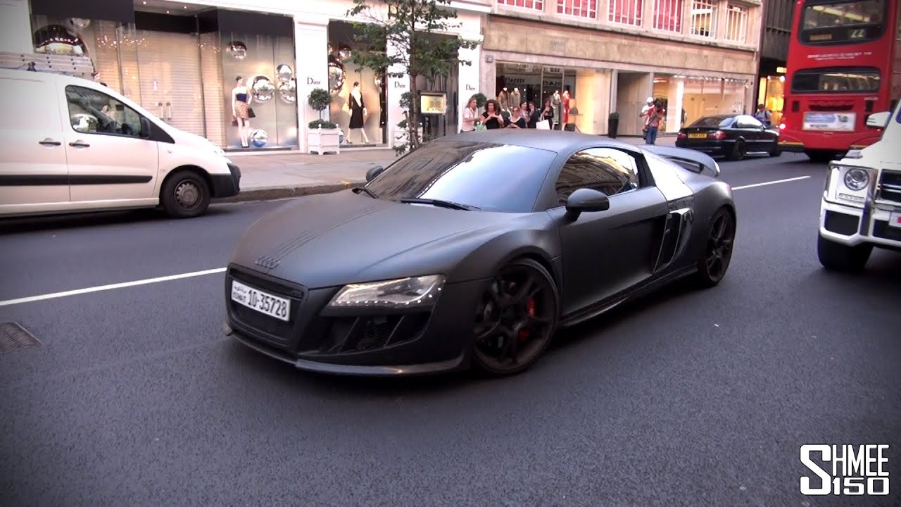 Abt Audi R8 R Supercharged With 552hp Stealth Car In London Youtube