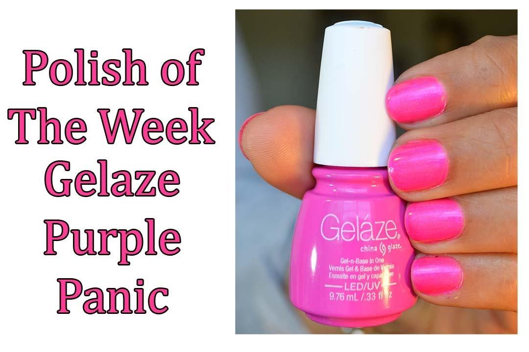 Polish of the Week - Gelaze Purple Panic - YouTube