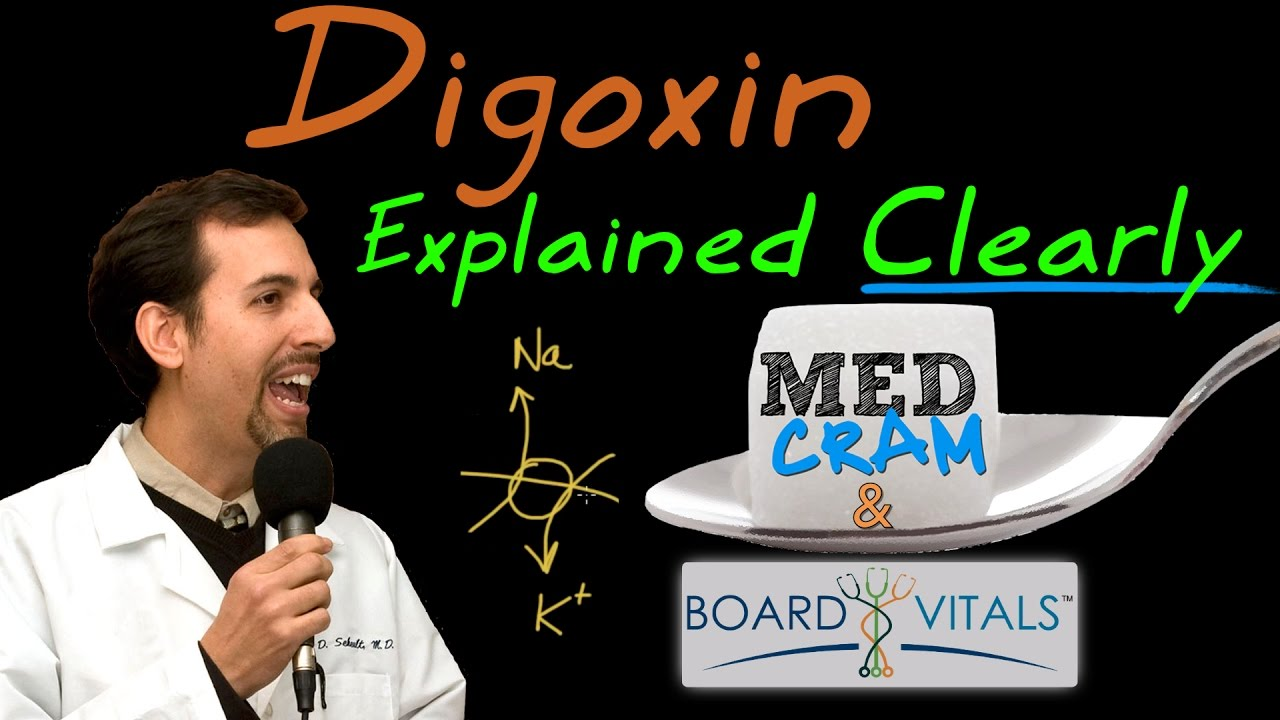 Whenever i come across a mismatched caption and picture i question - Digoxin Explained Clearly A Bv Question Answered By Medcram Com