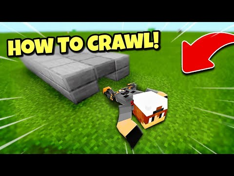 MCPE How To Crawl in Minecraft Pe   Minecraft Pocket Edition