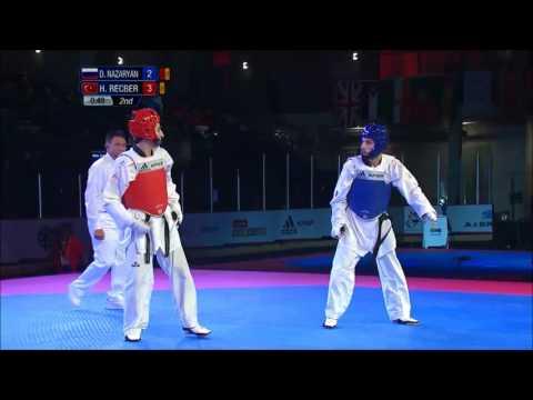 Taekwondo WTF. Чемпионат мира среди юниоров. Полуфинал. М-59 Nazaryan-Recber